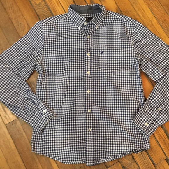 American Eagle Outfitters Other - AMERICAN EAGLE Blue checked shirt. Size S/P.